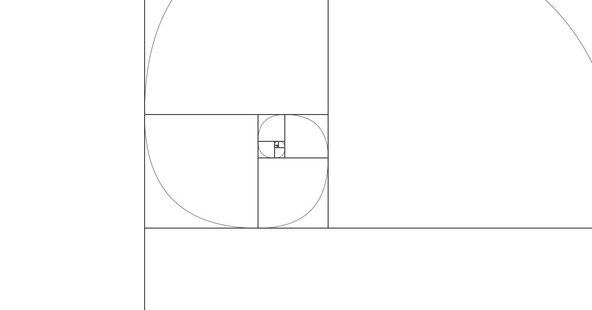 Caracol Fibonacci en javascript. #fibonacci #canvas #javascript