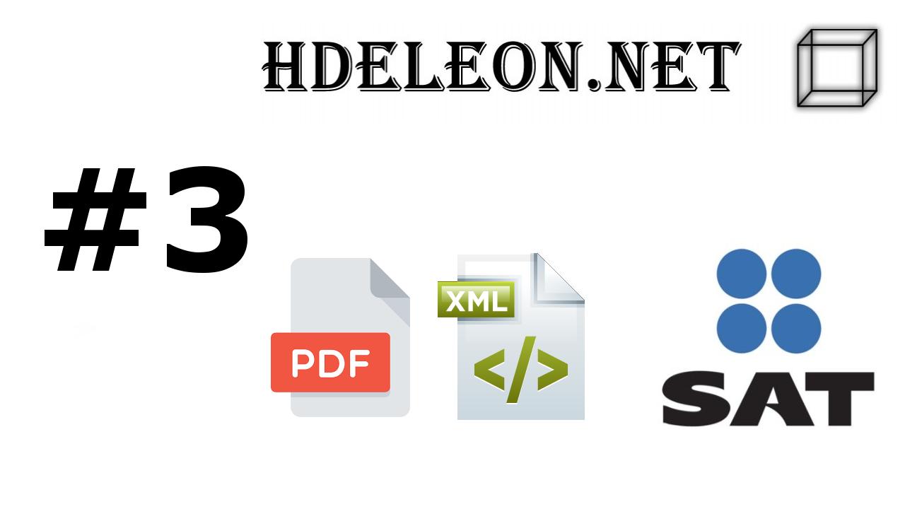 ¿Cómo crear el archivo pdf a partir de un xml timbrado 3.3 C# .Net? | Creación de QR | SAT #3