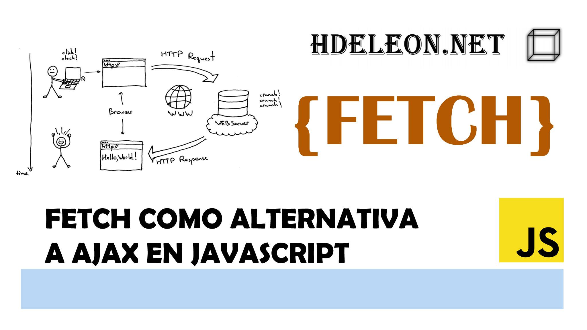 Fetch como alternativa a AJAX en javascript, API Fetch