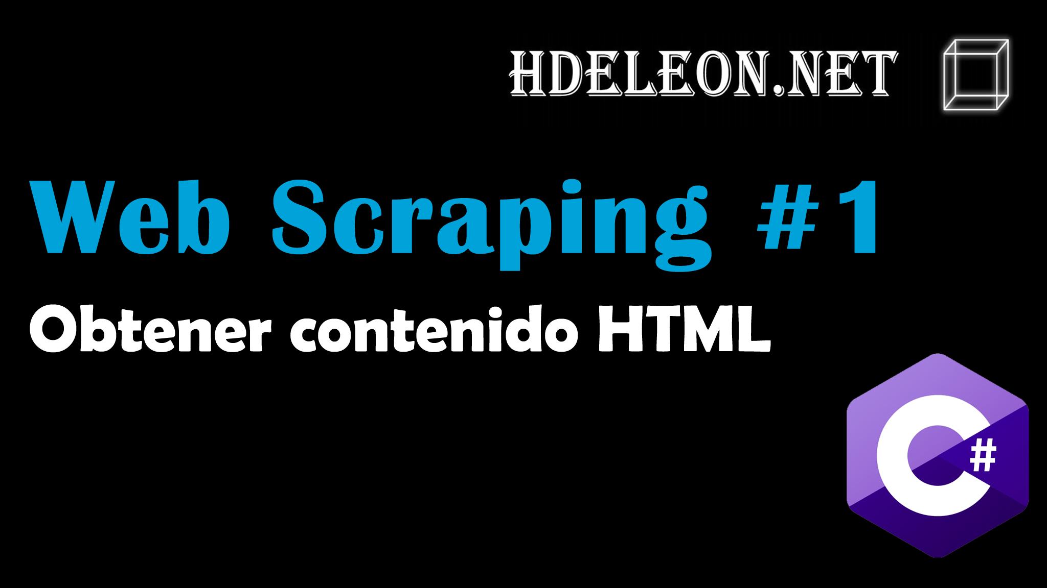 Curso de Web scraping en C# .Net