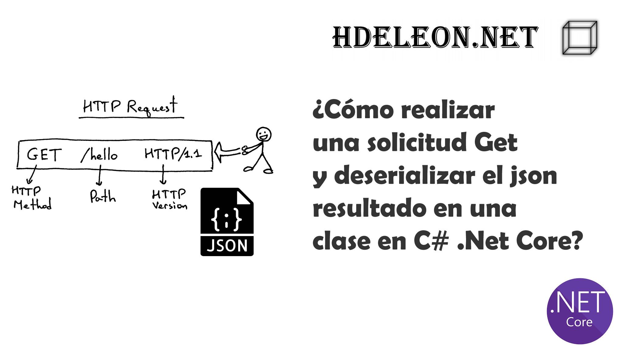 ¿Cómo realizar una solicitud Get y deserializar el json resultado en una clase en C# .Net Core?