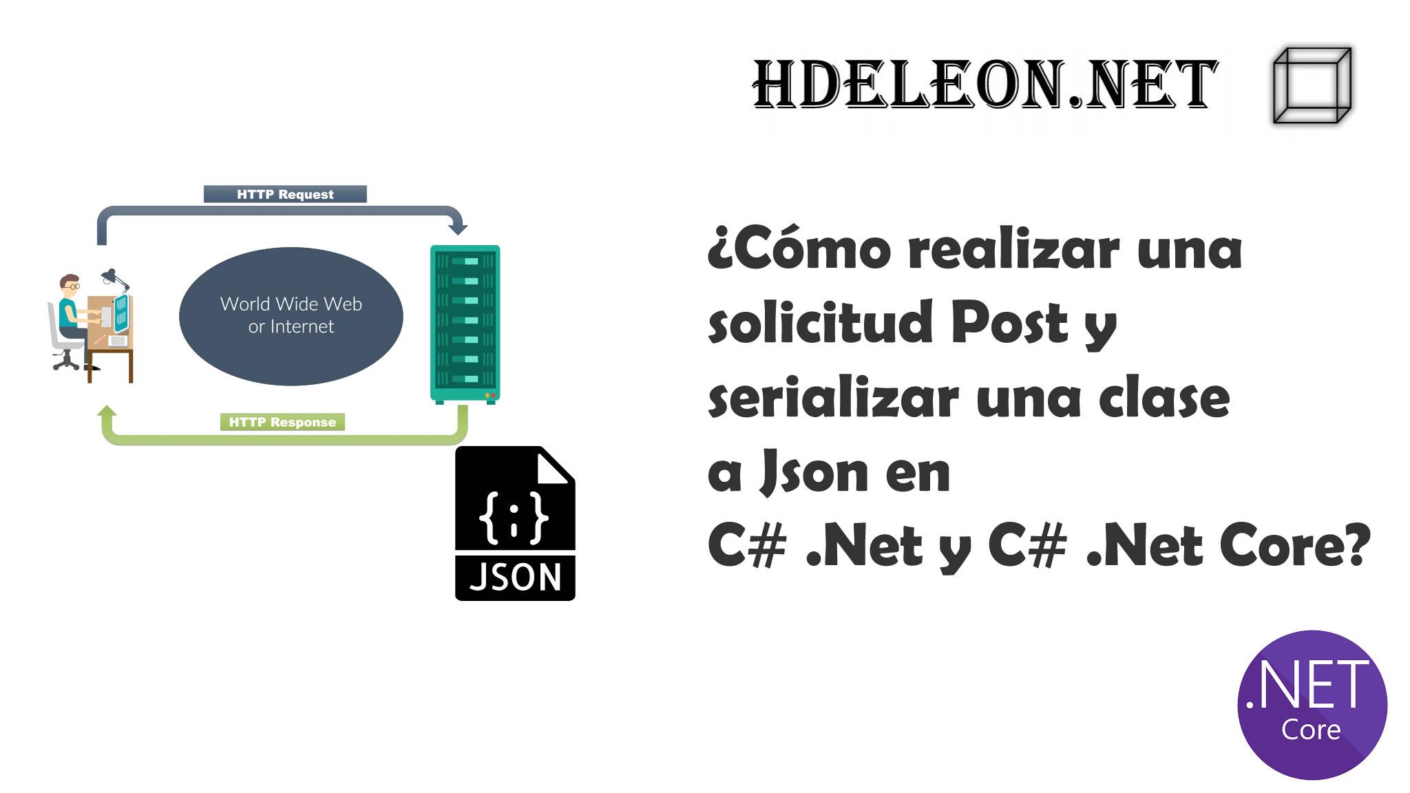 ¿Cómo realizar una solicitud Post y serializar una clase a Json en C# .Net y C# .Net Core?