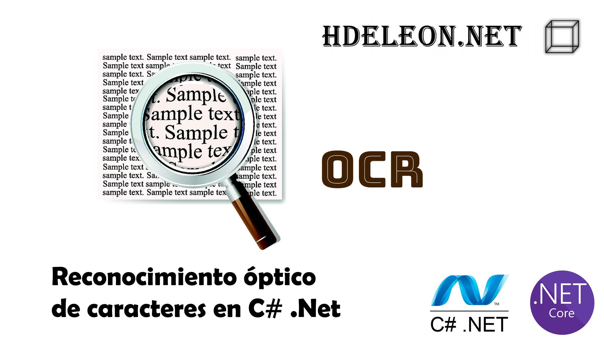 Reconocimiento óptico de caracteres en C# .Net, Tesseract