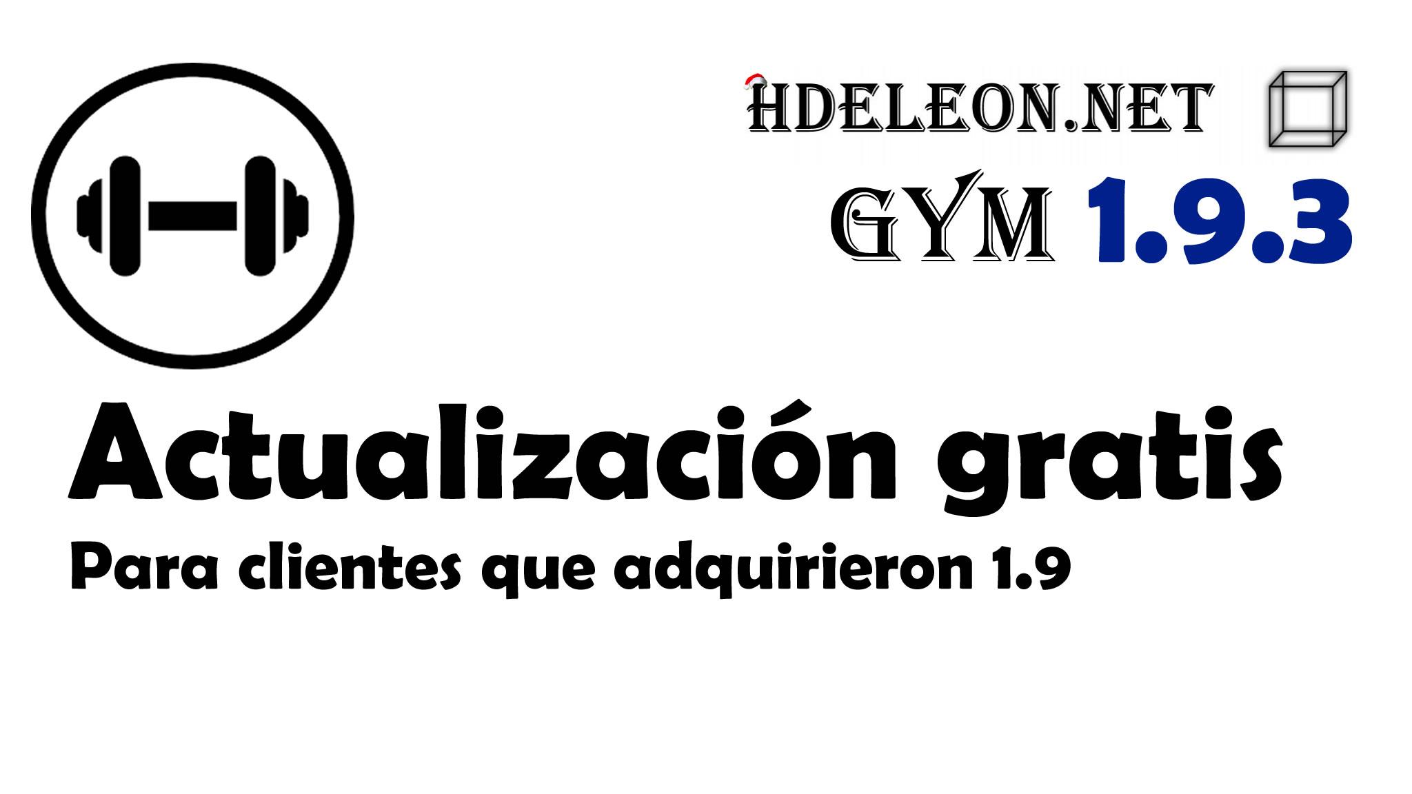 Hdeleon gym 1.9.3 | Actualización gratuita para clientes de hdeleon gym 1.9