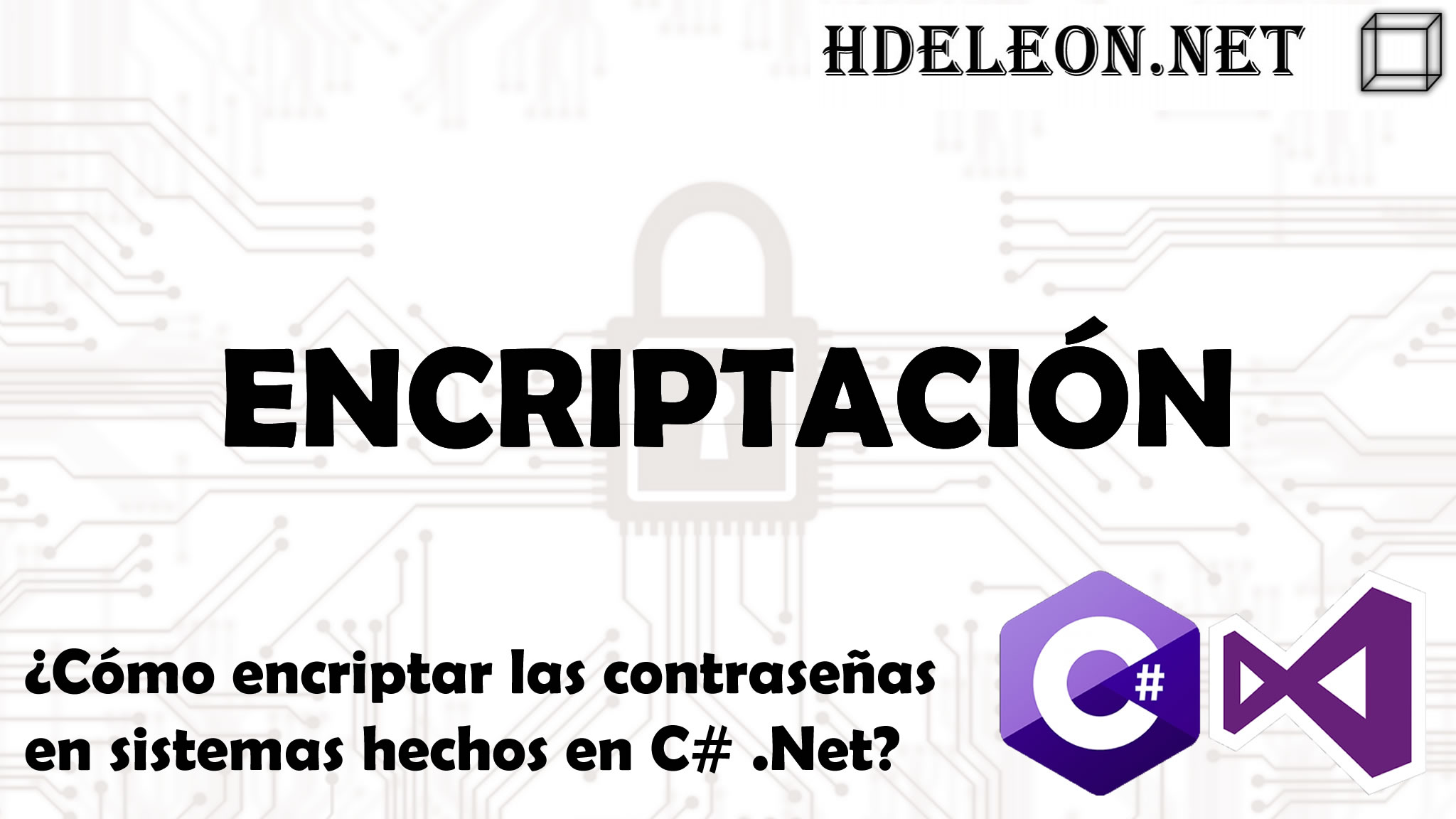 ¿Cómo encriptar las contraseñas en sistemas hechos en C# .Net?